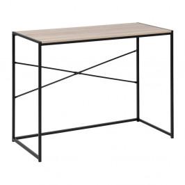 Písací stôl s kovovou konštrukciou a doskou v dekore sonoma Actona Seaford