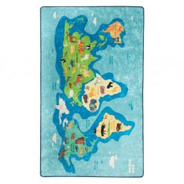 Modrý detský protišmykový koberec Chilam Map, 100 x 160 cm