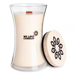 Sviečka zo sójového vosku We Love Candles Ivory Cotton, doba horenia 301 hodín