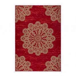 Červený koberec Hanse Home Gloria Lace, 80 x 150 cm