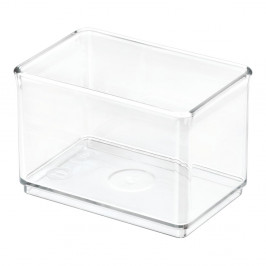 Transparentný úložný box iDesign The Home Edit, 7,9 x 11,9 x 8,1 cm