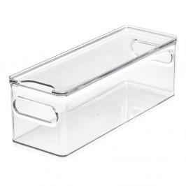 Transparentný úložný box s vekom iDesign The Home Edit, 31,1 x 10,8 cm