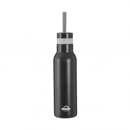 Matná čierna športová fľaša Premier Housowares Mimo, 500 ml
