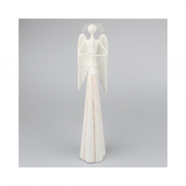 Biely kovový anjel Dakls, výška 6 cm