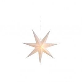 Biela závesná svietiaca hviezda Best Season Dot Snow, 70 cm