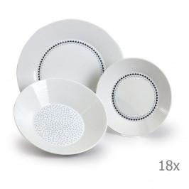 Sada 18 porcelánových tanierov s trojuholníčkami Thun Lea
