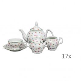 Porcelánová sada na čaj s motívom kvetín Thun Bernadotte
