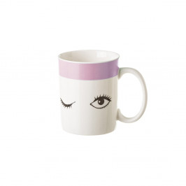 Porcelánový hrnček Unimasa Pink Dreameyes, 310 ml