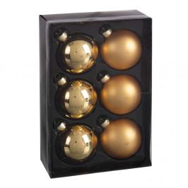 Sada 6 zlatých vianočných ozdôb Unimasa Brightness