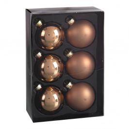 Sada 6 béžových vianočných ozdôb Unimasa Brightness