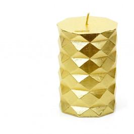 Sviečka v zlatej farbe Unimasa Fashion, výška 10 cm