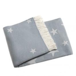 Svetlomodrá deka s podielom bavlny Euromant Stars, 140x180cm