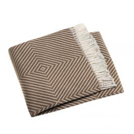 Gaštanovohnedý pléd s podielom bavlny Euromant Tebas, 140×180 cm