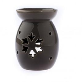 Hnedá keramická aromalampa s motívom vločky Dakls