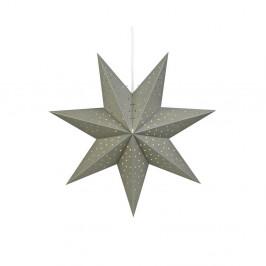 Sivá svetelná závesná dekorácia Markslöjd Morris, výška 45 cm
