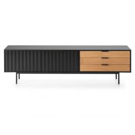 Čierno-hnedý televízny stolík Teulat Sierra