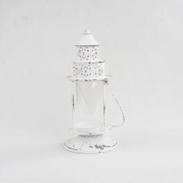 Biely kovový lampáš Dakls Athena