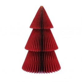 Trblietavá červená papierová vianočná ozdoba v tvare stromu Only Natural, výška 22,5 cm