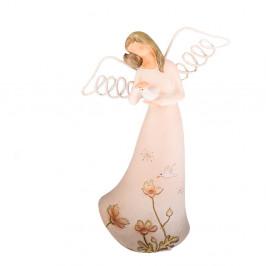 Dekoratívna soška Dakls Anjel s holubicou, výška 21 cm