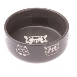 Sivá keramická miska pre mačku Dakls, 300 ml