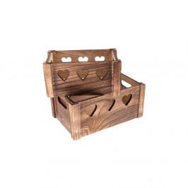 Sada 2 drevených debničiek Dakls