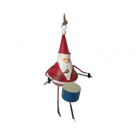 Vianočná závesná ozdoba G-Bork Santa with Drum