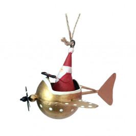 Vianočná závesná ozdoba G-Bork Santa in Fly