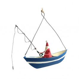 Vianočná závesná ozdoba G-Bork Santa Fishing