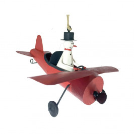 Vianočná závesná ozdoba G-Bork Snowman in Airplane