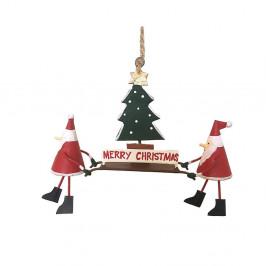 Vianočná závesná ozdoba G-Bork Santas with Christmastree