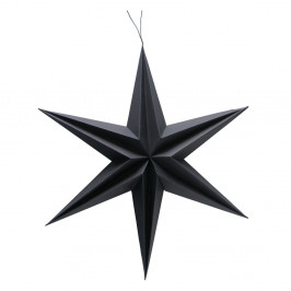 Čierna vianočná závesná dekorácia Boltze Kassia