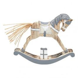 Drevená dekorácia v tvare hojdacieho koňa Green Gate, dĺžka 12,7 cm