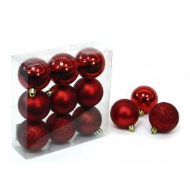 Sada 9 červených vianočných ozdôb Unimasa Caja