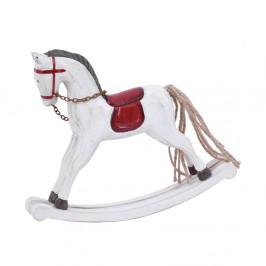 Biela vianočná dekorácia v tvare hojdacieho koňa Ego Dekor