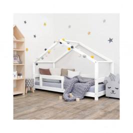 Biela drevená detská posteľ Benli Lucky, 90 x 160 cm