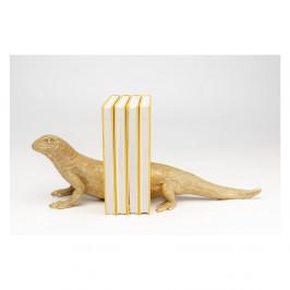 Sada dvoch zarážok na knihy v zlatej farbe Kare Design Lizard