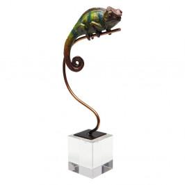 Dekoratívna soška Kare Design Green Chameleon