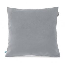 Sivá obliečka na vankúš so zamatovým povrchom Mumla Velvet, 45 x 45 cm