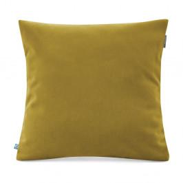 Žltozelená obliečka na vankúš so zamatovým povrchom Mumla Velvet, 45 x 45 cm