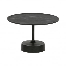 Čierny odkladací stolík WOOOD Lewis, ø 61 cm