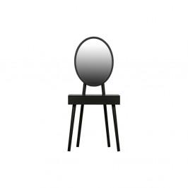 Čierny toaletný stolík s nohami z borovicového dreva WOOOD Vanity