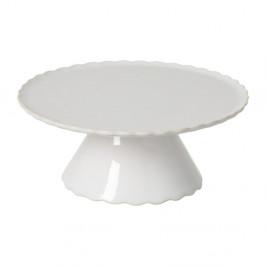 Biely kameninový podnos na tortu Casafina Forma, ⌀ 20,6 cm