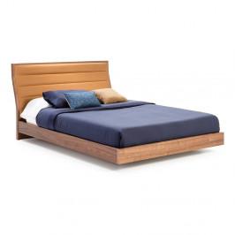 Dvojlôžková posteľ s nohami z orechového dreva Ángel Cerdá, 160 x 200 cm