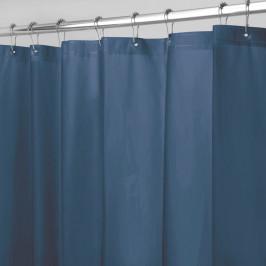 Modrý sprchový záves iDesign PEVA, 183 x 183 cm