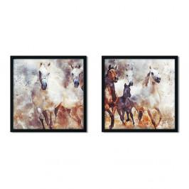 Sada 2 zarámovaných plagátov Insigne Christopher, 50 x 50 cm