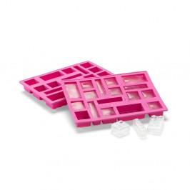 Ružová silikónová forma na ľad v tvare dielika LEGO®