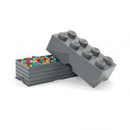 Detský tmavosivý úložný box LEGO® Rectangle