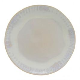 Biely kameninový tanier Costa Nova Brisa, ⌀ 20 cm