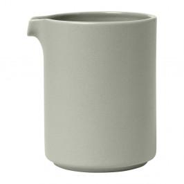 Svetlosivá keramická nádoba na mlieko Blomus Pilar,280 ml