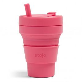 Ružový skladací hrnček Stojo Biggie Peony, 470 ml